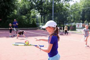 Balanceren met de bal op Tenniskamp Amsterdam